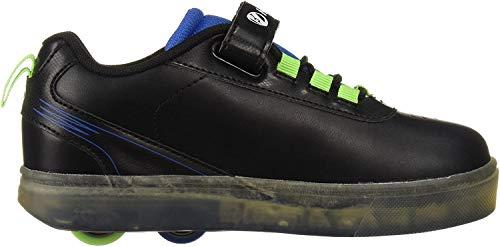 Heelys Unisex-Kinder X2 Fitnessschuhe, Mehrfarbig (Black/Blue/Green 000), 34 EU