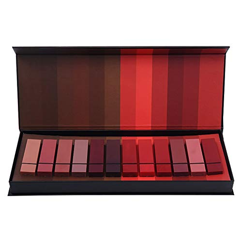 weixinbuy 12 couleurs durables mat cadeau de rouge à lèvres ensemble durable durable brillant à lèvres hydratant brillant à lèvres ensemble avec boîte-cadeau