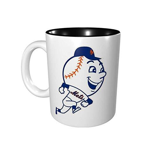 Yuanmeiju New York Baseball Fans Mr. Met Taza de color Porcelain Cup Mug 330ml Ceramics Home Use Office Environmental Protection