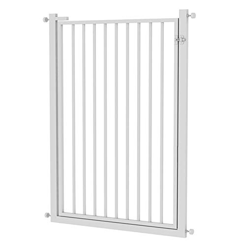 Buy Baby Gate LXLA Easy Install Metal with Pressure Mount Fastening (White), for Doorway/Stairs/Hall...