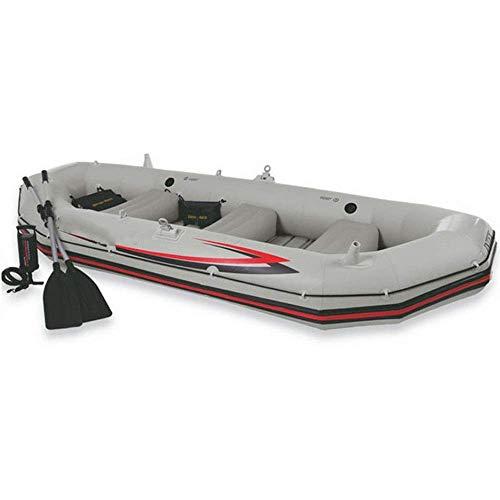 Aufblasbares Kajak-Profi Sailor Outdoor Angeln Vier-Personen-Boot Drift Boot Kayaking Inflatable Boat Rettungsboot Angeln Kajaks Inflatable Boat (Farbe: Grau, Größe: 328x145x48cm) ZHANGKANG