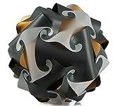 Puzzle Lampe xl 45cm Lampenschirm Steh- Designer- Deco Deckenleuchte (grau-weiss)