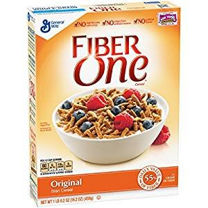 top 10 fiber cereals Fiber One Original Bran Granola, fructose free, 16.2 oz.  3 packs.
