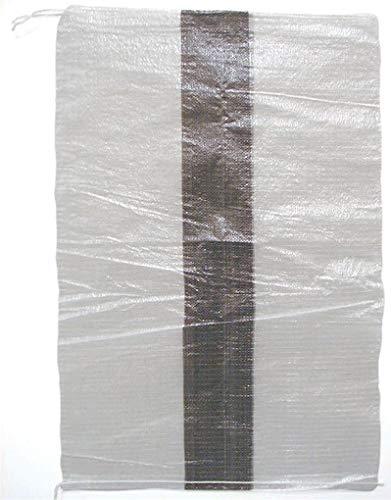 ゴミ分別袋 カラー別ライン入り 580×880mm 黒 500枚