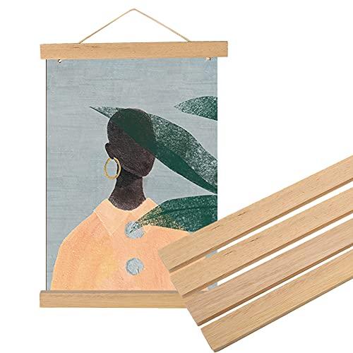 Magnetico di Legno Cornice,Decorazione Domestica Fai Da Te Gancio di Tela Usato per Conserva e Mostra Poster, Foto, Calligrafia e Pittura, Opere D'arte Legno Bianco(30cm)