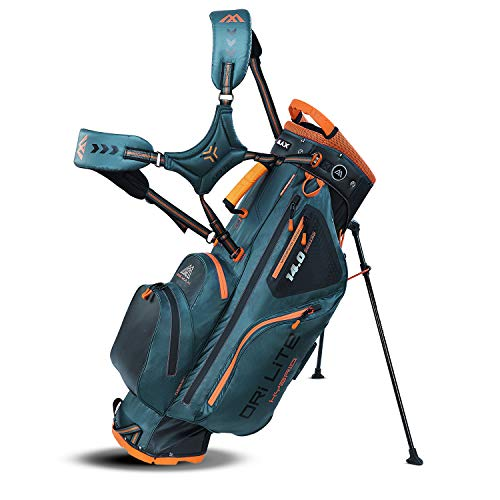 Big Max Dri Lite HYBRID Golf Cartbag & Standbag - Wasserabweisend - 2019 - Petrol/Black/Orange