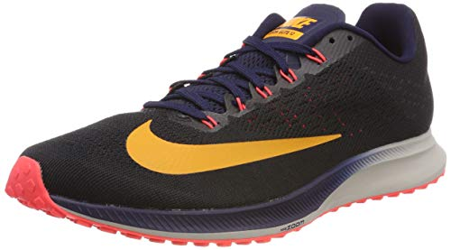 Nike Air Zoom Elite 10, Zapatillas de Running Hombre, Negro (Black/Orange Peel/Blackened Blue/Flash Crimson/Moon Particle 084), 46 EU