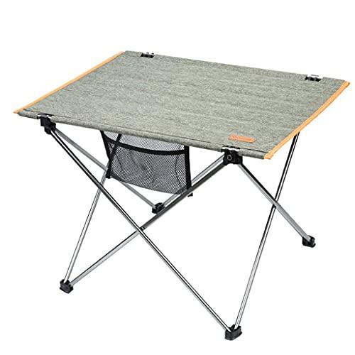ZCYY Mesa Plegable - Mesa Plegable de Aluminio para Exteriores, Mesa portátil Ultraligera Go out Mesa de Barbacoa Salvaje (Color: Gris, tamaño: 56,9x42,5x40 cm)