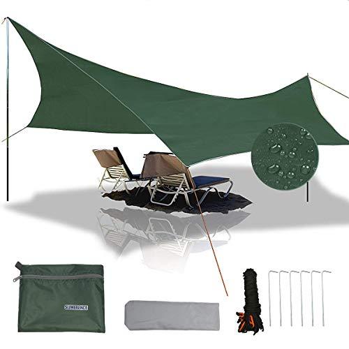 gracosy Wasserdichte Campingplane, Sonnenschutz, UV-Schutz, leicht, Outdoor-Abenteuer, Wandern, Camping, Rucksackreisen, Picknickzelt, Tarp
