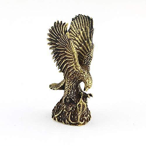 LQCN Messing Modell Dekor Kleintier Display Ornament Zubehör Symbol Figuren Home Durable Miniature Eagle Statue, 1pc