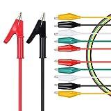 Cables de Prueba Puntas Sonda Conector Banana a Pinzas Cocodrilo 15 A 1000V con 5 Pares Cables de Pinza Cocodrilo en 5 Colores 1A 30V Accesorios para Polimetro Multimetro Reparación