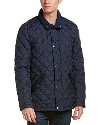 Cole Haan Men's Quilted Barn Jacket, Navy, Medium