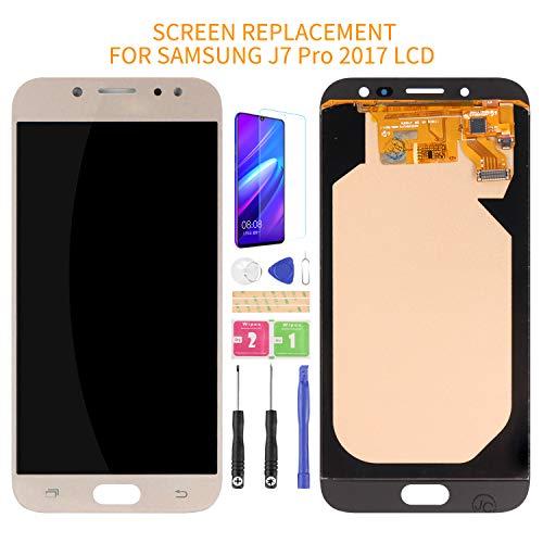 Kit de montaje de pantalla LCD para Samsung Galaxy J7 Pro 2017 J730 J730F/DS J730G/DS J730GM/DS de vidrio digitalizador de repuesto, película templada, pegamento y herramientas