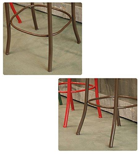 YP Stuhl Barhocker Retro Barhocker Schmiedeeisen Barhocker Sitzhöhe zu Hause 75 cm Creative Chair,rot
