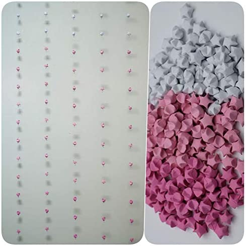 20 overseas String 500 Origami Paper Stars Great interest Shade 1 Mobile cm Hanging Pink