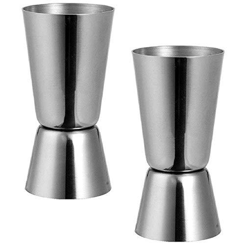 Baalaa Acero 25/50 ml Jigger Bar Craft Dual Spirit Measure Cup Peg Copa Medición para Bar Fiesta Vino Cóctel Coctelera