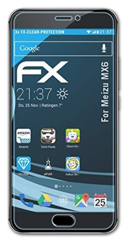 atFolix Schutzfolie kompatibel mit Meizu MX6 Folie, ultraklare FX Bildschirmschutzfolie (3X)