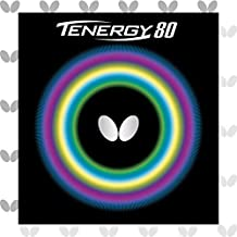 Butterfly Tenergy 80 Table Tennis Rubber Table Tennis Rubber | 1.7 mm, 1.9 mm, or 2.1 mm | Red or Black | 1 Inverted Table Tennis Rubber Sheet | Professional Table Tennis Rubber
