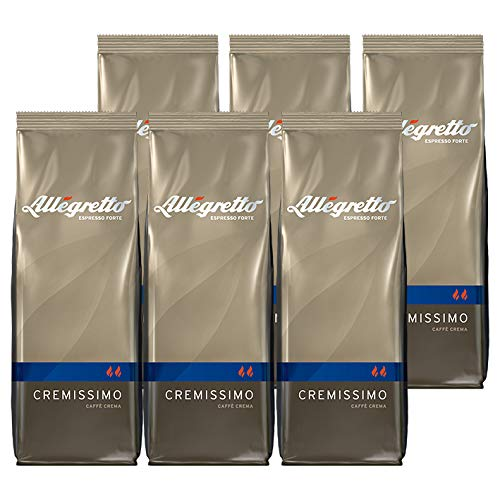 Allegretto Cremissimo, 250g, ganze Bohne, 6er Pack