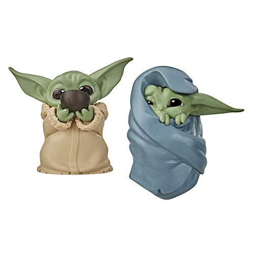 "Star Wars The Bounty Collection The Child ""Baby Yoda"", schlürft Suppe und ist in eine Decke gehüllt, 5,5 cm große Figuren, 2er-Pack"