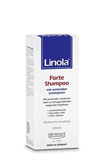Linola Forte Shampoo 200 ml - für juckende, trockene oder zu Schuppenflechte neigende Kopfhaut