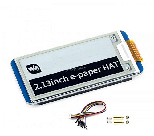 2.13 inch E-Ink Display e-Paper HAT Resolution 250x122 SPI Interface for Raspberry Pi 4 3 2 Zero W WH @XYGStudy
