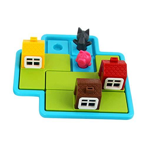 vap26 Niño Smart Juegos de Mesa Tres Little Cerditos 48 Reto con Solution Juegos Juguetes Educativos para Niños - como Se Ve, Free Size
