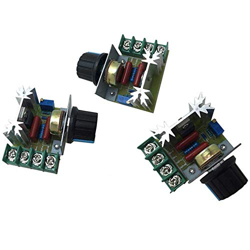 ZXJUAN Wireless Control (3 pakketten), vermogensregelaar 2000 W ingang SCR AC snelheidsregelaar motor dimmer thermostaat