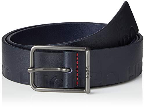 HUGO Mens Gal-G_ Logo_Sz35 Belt, Dark Blue(402), 95