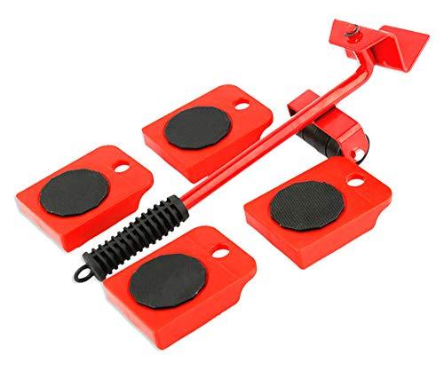 Onerbuy Levantador de muebles con 4 paquetes de deslizadores móviles Muebles pesados Rodillo Mover herramientas Máx. Para 150 KG / 330 LB, almohadillas giratorias de 360 grados (Negro)