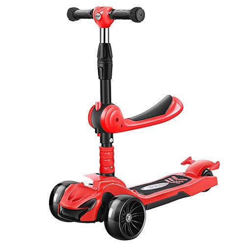 XINFA Scooter para niños Scooter Tres en uno para niños 1-3-6-12 años Edad, los niños Pueden Montar un yo-Car con un Trineo para bebés un Solo Pedal