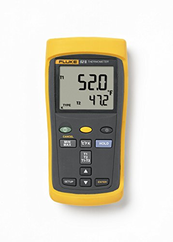 Fluke 52-2 Dual Input Digital Thermometer with a NIST-Traceable Calibration Certificate with D