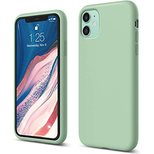 elago Silicona Líquida Funda Compatible con iPhone 11 (6.1 ), Silicona Premium, Protección Funda Protectora 3 Tapas Estructura (Verde Pastel)
