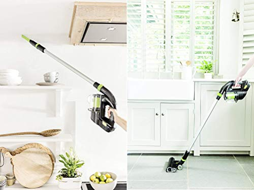 Gtech 1-03-072 Power Floor K9 Vacuum Cleaner, Plastic, 140 W, Grey/Green/Black