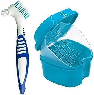 Boite a Dentier - Plastic Dental Denture Protège-Bouches Conteneur de Rangement Boîtier pour Dentier Muni d'un Panier de R...