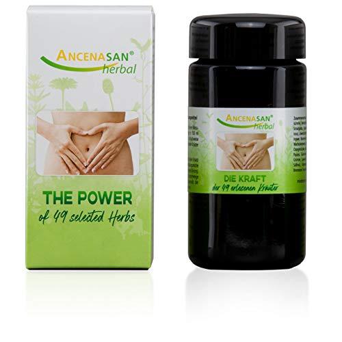 ANCENASAN® herbal 40g - 49 Kräuter - Bitterstoffe ohne Alkohol - Regeneration der Verdauung - Glutenfrei, vegan, 100% naturrein