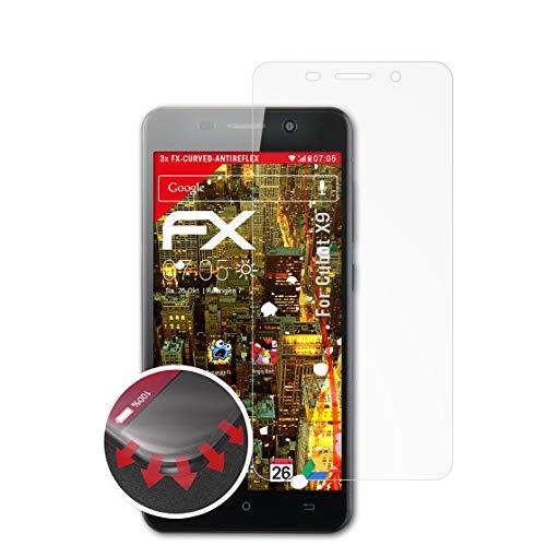 atFolix Schutzfolie kompatibel mit Cubot X9 Folie, entspiegelnde & Flexible FX Bildschirmschutzfolie (3X)