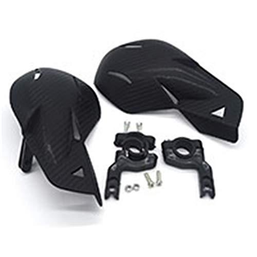 Carenado de Moto Guardamanos Moto de Motocross 7 Colores Universal Protectores Handguards 7/8 '' Dirt Bike ATV 22mm Guardia Protectora de Manos Spoiler de la Moto (Color : Carbon)