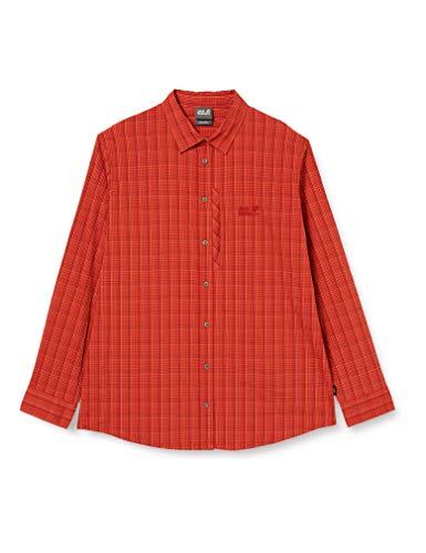 Jack Wolfskin Herren Rays Flex Hemd, Mexican Pepper Checks, XXL, 1401932
