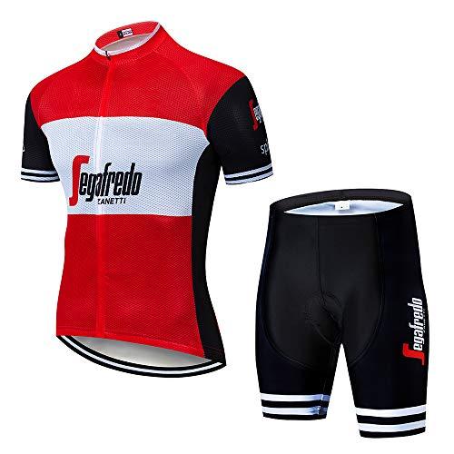 Abbigliamento Ciclismo Uomo Asciugatura Veloce Maglia MTB +Pantaloncini Maglia da Ciclismo Abbigliamento Sportivo