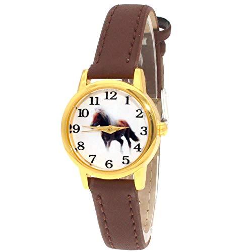 CSXM Kinder schauen zu mädchen Damenuhr Kinderuhren Pferd Leder Quarz Student Kinder Tier Kinder Armbanduhr 10 Farben