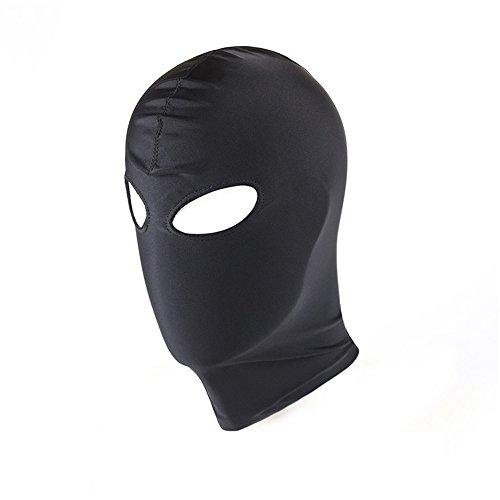 Cosplay Maschera CS Giocattolo per le Coppie Halloween Masquerade Masks Costumi Nero (4- aprire gli occhi e la bocca)