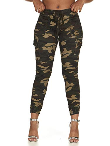 V.I.P. JEANS CG Collection Cargo High Waisted Jogger Skinny Drawstring Army Camo Size M (5,7)