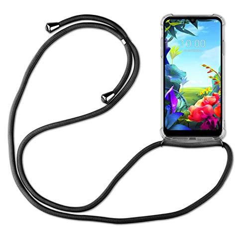 betterfon | LG K40S Handykette Smartphone Halskette Hülle mit Band - Schnur mit Hülle zum umhängen Handyhülle mit Kordel zum Umhängen für LG K40S Schwarz