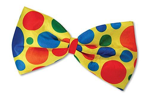 SHATCHI Bow Tie Clow Clown Jumbo Fliege, Unisex-Erwachsene, Einheitsgröße Kostüm-Zubehör Zirkusweltbuch Tag, Adult, gelb