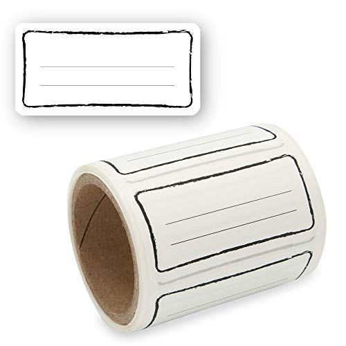 Etiketten Selbstklebend 100 Stück, Klebe-Etiketten zum Beschriften von Einmach-Gläsern, Aufkleber Marmeladenglas Beschriftbar, Gewürzetiketten 60x30mm