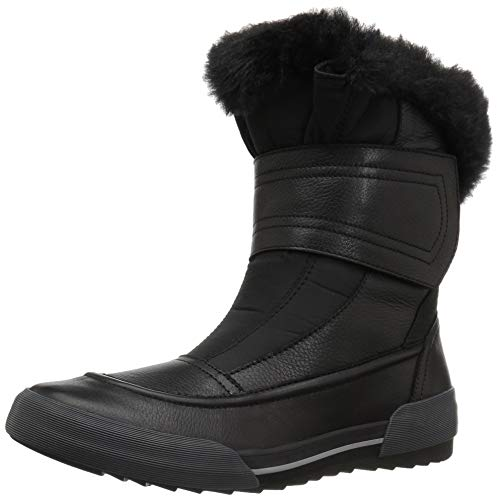 CLARKS Women's Gilby Merilyn Snow Boot, Black Leather, 070 M US