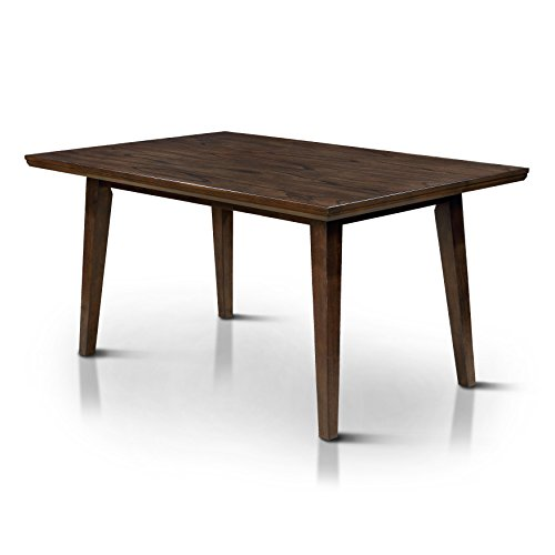 HOMES: Inside + Out Jenka Walnut Jenak Mid-Century Modern Dining Table,