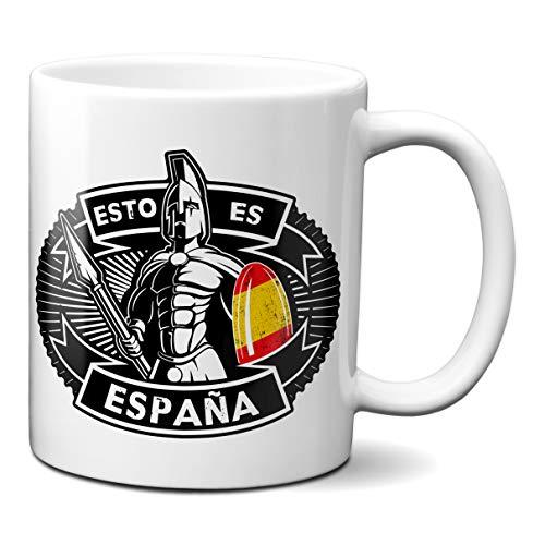 Planetacase Taza Esto es España Estilo Espartano- Regalo Patriota y Original para Amigos y Familia Ceramica 330 mL
