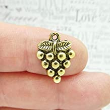 Bulk 50 Grape Cluster Charm Gold by TIJC SP1781B - Design Your Own Jewelry - DIY - Art Craft